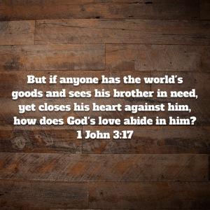 1 John 3:17